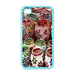 Colorful Oriental Candle Holders For Sale On Local Market Apple Iphone 4 Case (color)