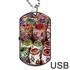 Colorful Oriental Candle Holders For Sale On Local Market Dog Tag Usb Flash (two Sides) by BangZart
