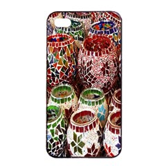 Colorful Oriental Candle Holders For Sale On Local Market Apple Iphone 4/4s Seamless Case (black)