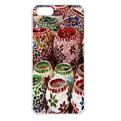 Colorful Oriental Candle Holders For Sale On Local Market Apple Iphone 5 Seamless Case (white)