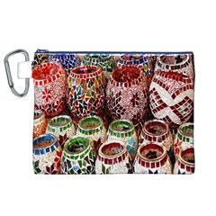 Colorful Oriental Candle Holders For Sale On Local Market Canvas Cosmetic Bag (xl) by BangZart