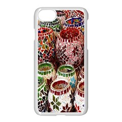 Colorful Oriental Candle Holders For Sale On Local Market Apple Iphone 7 Seamless Case (white)