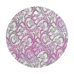 Floral Pattern Background Ornament (round) by BangZart