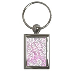Floral Pattern Background Key Chains (rectangle)  by BangZart