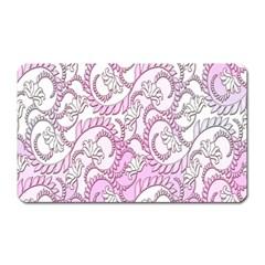 Floral Pattern Background Magnet (rectangular)