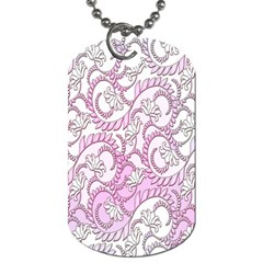Floral Pattern Background Dog Tag (one Side) by BangZart