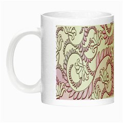 Floral Pattern Background Night Luminous Mugs