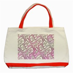 Floral Pattern Background Classic Tote Bag (red) by BangZart
