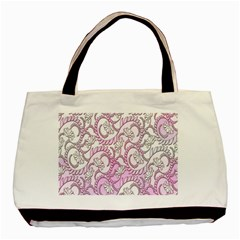 Floral Pattern Background Basic Tote Bag (two Sides)