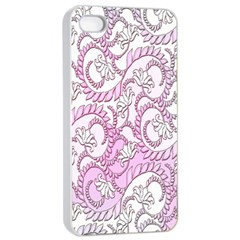 Floral Pattern Background Apple Iphone 4/4s Seamless Case (white) by BangZart