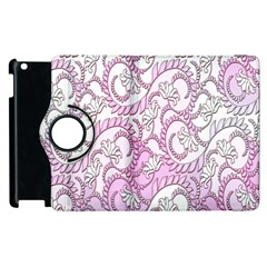 Floral Pattern Background Apple Ipad 2 Flip 360 Case by BangZart