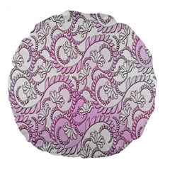 Floral Pattern Background Large 18  Premium Round Cushions by BangZart