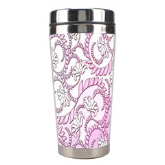 Floral Pattern Background Stainless Steel Travel Tumblers by BangZart