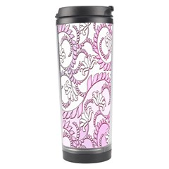 Floral Pattern Background Travel Tumbler by BangZart