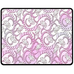 Floral Pattern Background Double Sided Fleece Blanket (medium)