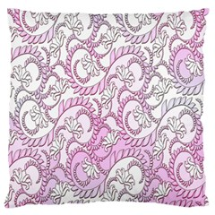 Floral Pattern Background Large Flano Cushion Case (two Sides) by BangZart