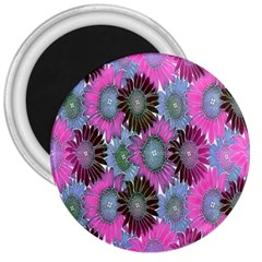 Floral Pattern Background 3  Magnets by BangZart