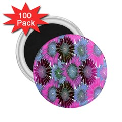 Floral Pattern Background 2 25  Magnets (100 Pack)