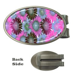 Floral Pattern Background Money Clips (oval)  by BangZart