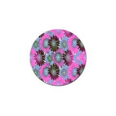 Floral Pattern Background Golf Ball Marker by BangZart