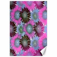 Floral Pattern Background Canvas 20  X 30   by BangZart