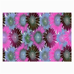 Floral Pattern Background Large Glasses Cloth (2 Side) by BangZart