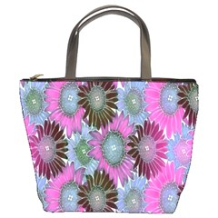 Floral Pattern Background Bucket Bags
