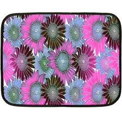 Floral Pattern Background Double Sided Fleece Blanket (mini)  by BangZart