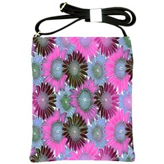 Floral Pattern Background Shoulder Sling Bags by BangZart