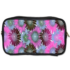 Floral Pattern Background Toiletries Bags 2 Side