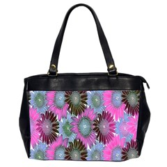 Floral Pattern Background Office Handbags (2 Sides)  by BangZart
