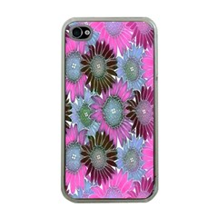 Floral Pattern Background Apple Iphone 4 Case (clear) by BangZart