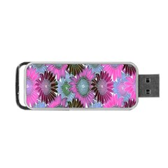 Floral Pattern Background Portable Usb Flash (two Sides) by BangZart