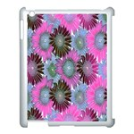 Floral Pattern Background Apple iPad 3/4 Case (White) Front