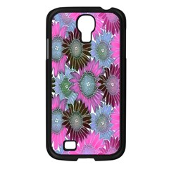 Floral Pattern Background Samsung Galaxy S4 I9500/ I9505 Case (black) by BangZart