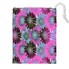 Floral Pattern Background Drawstring Pouches (xxl) by BangZart