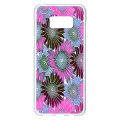 Floral Pattern Background Samsung Galaxy S8 Plus White Seamless Case