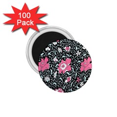 Oriental Style Floral Pattern Background Wallpaper 1 75  Magnets (100 Pack)