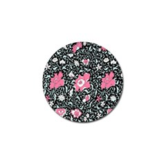 Oriental Style Floral Pattern Background Wallpaper Golf Ball Marker (4 Pack) by BangZart