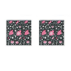 Oriental Style Floral Pattern Background Wallpaper Cufflinks (square)
