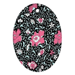 Oriental Style Floral Pattern Background Wallpaper Oval Ornament (two Sides) by BangZart