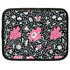 Oriental Style Floral Pattern Background Wallpaper Netbook Case (xl)