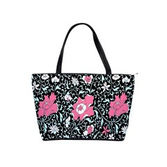 Oriental Style Floral Pattern Background Wallpaper Shoulder Handbags