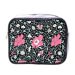 Oriental Style Floral Pattern Background Wallpaper Mini Toiletries Bags