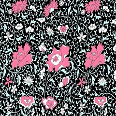Oriental Style Floral Pattern Background Wallpaper Magic Photo Cubes