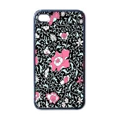 Oriental Style Floral Pattern Background Wallpaper Apple Iphone 4 Case (black)