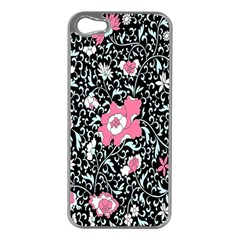 Oriental Style Floral Pattern Background Wallpaper Apple Iphone 5 Case (silver) by BangZart