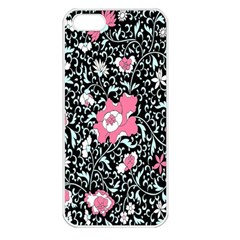 Oriental Style Floral Pattern Background Wallpaper Apple Iphone 5 Seamless Case (white) by BangZart