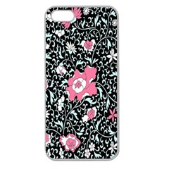 Oriental Style Floral Pattern Background Wallpaper Apple Seamless Iphone 5 Case (clear) by BangZart