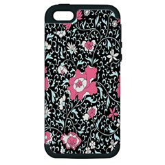 Oriental Style Floral Pattern Background Wallpaper Apple Iphone 5 Hardshell Case (pc+silicone) by BangZart